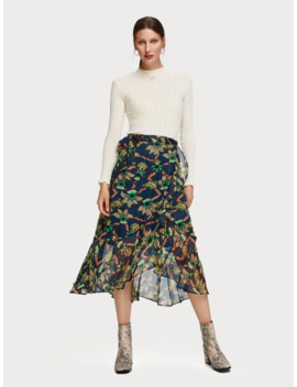 Floral Print Ruffle Skirt by Scotch&Soda