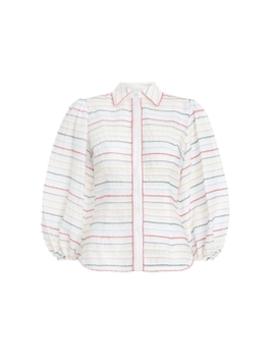 Zinnia Scallop Stripe Shirt by Zimmermann
