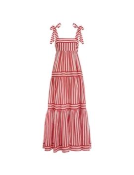 Zinnia Stripe Tie Tiered Dress by Zimmermann