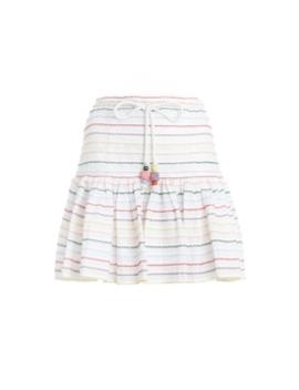 Zinnia Scallop Stripe Skirt by Zimmermann