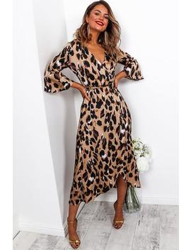 All About Me   Wrap Dress In Leopard by Dlsb