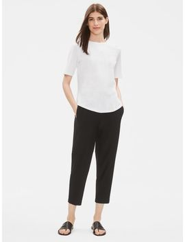 Lightweight Washable Stretch Crepe Slouchy Pant by Eileen Fisher