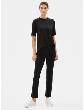 Organic Cotton Stretch Straight Pant by Eileen Fisher