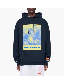 Raglan Hoodie Heron Paint by Heron Preston