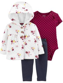3 Piece Quilted Little Jacket Set by Carter's| Baby