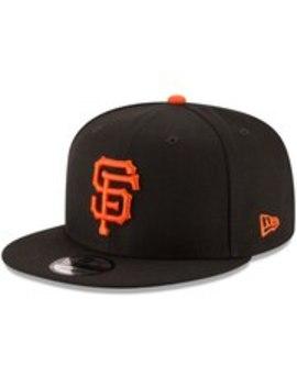 San Francisco Giants New Era Team Color 9 Fifty Snapback Hat   Black by New Era