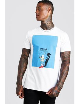 Sonic License T Shirt by Boohoo