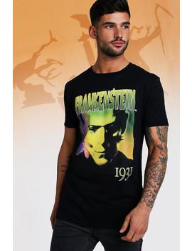 Frankenstein License T Shirt by Boohoo