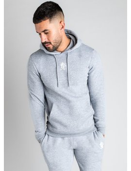Gk Basis Pullover Hoodie   Grey Marl by The Gym King