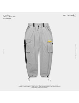 Inflation 2018 Elastic Waist Patchwork Track Pants Mens Hip Hop Windbreaker by Inflation