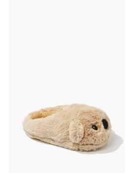 Plush Koala Bear Slippers by Forever 21