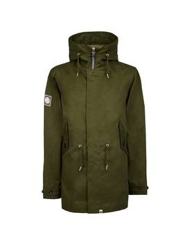 Bonded Cotton Hooded Parka by Pretty Green