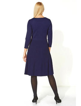 Fit And Flare Knitted Dress by Roman Originals