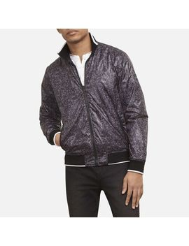Camo Zip Up Bomber Jacket by Kenneth Cole