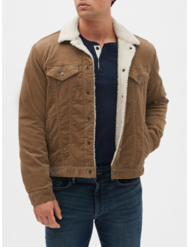 Sherpa Lined Icon Cord Jacket by Gap