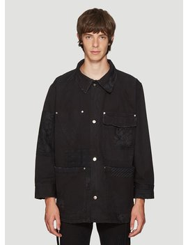 Patch Worker Jacket In Black by Vyner Articles