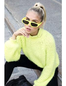 Kendall & Kylie Neon Fuzzy Mock Neck Sweater by Ardene