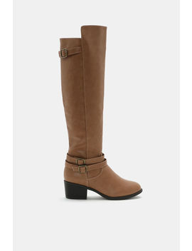 Faux Leather Over The Knee Boots by Ardene