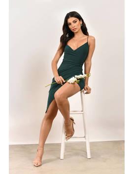 Maddie Hunter Green Bodycon Dress by Tobi