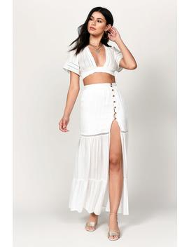 Astrid Black Side Slit Maxi Skirt by Tobi