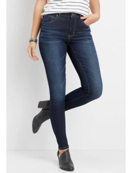 Everflex™ High Rise Dark Wash Stretch Skinny Jean by Maurices