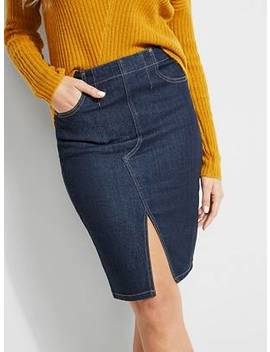 Paula Denim Pencil Skirt by Guess