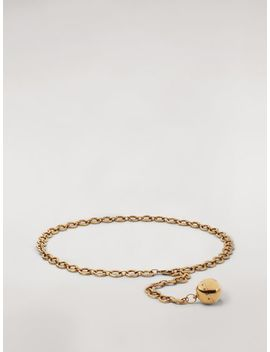 Gold Tone Metal Belt With Ball Pendant by Marni