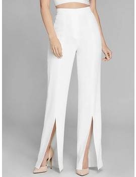 Benoit High Rise Slit Pant by Guess