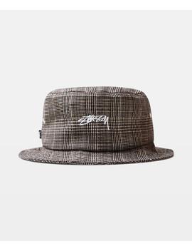 Glen Plaid Bucket Hat Tan by Au