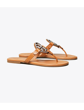 Miller Crystal Logo Sandal, Leather by Tory Burch