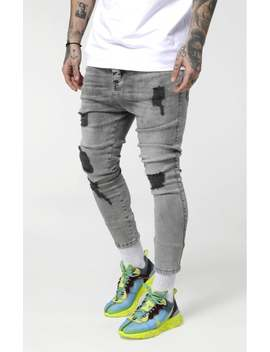 Drop Crotch Ultra Denims   Snow Wash by The Sik Silk