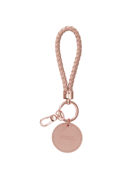 Leather Braided Key Ring Vintage Rose (Rose Gold): Signature Edition by Kikki.K