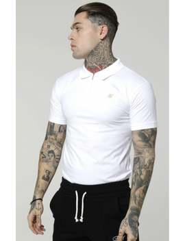 S/S Stretch Fit Zip Collar Polo   White by The Sik Silk