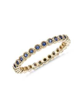 Sapphire Eternity Ring In 14k Yellow Gold (1.3mm) by Blue Nile