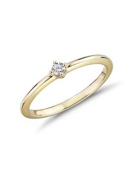 Mini Diamond Stackable Fashion Ring In 14k Yellow Gold (1/10 Ct. Tw.) by Blue Nile