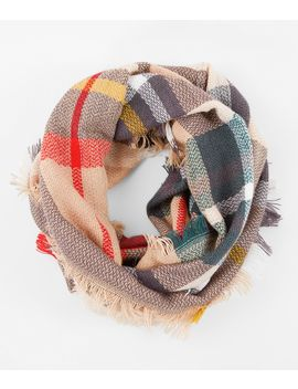 Plaid Infinity Scarf by Evelyn K