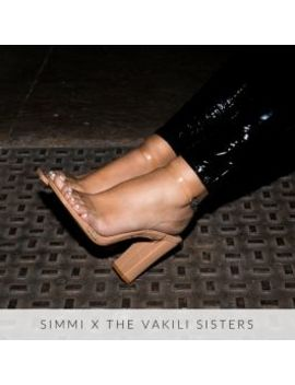 Dymond Nude Patent Clear Block Heels by Simmigirl
