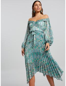 Portia Off Shoulder Dress by Portmans