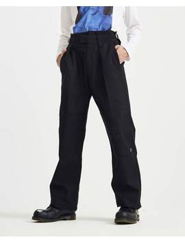Wide Fit Pant With Knee Patches And Rings   Black by Raf Simons