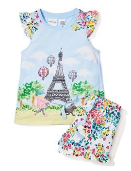 Jnr Girls Meet Me In Paris Pj Set by Peter Alexander