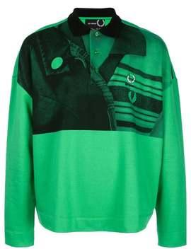 Fred Perry X Raf Simons          Raf Simons X Fred Perry Green Polo Shirt by Fred Perry X Raf Simons