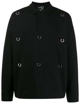 Fred Perry X Raf Simons          Raf Simons X Fred Perry Over Sized Laurel Shirt by Fred Perry X Raf Simons
