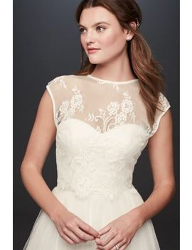 Open Back Lace Cap Sleeve Wedding Dress Topper by Fig By Madeleine Fig