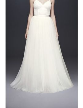 Tulle Ball Gown Wedding Skirt by David's Bridal Collection