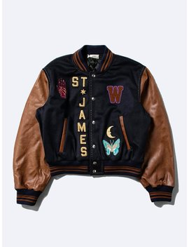 Patched Varsity Jacket by Wales Bonner