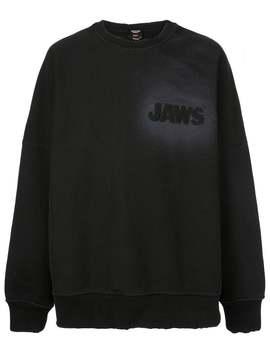 Calvin Klein 205 W39 Nyc          Jaws Sweatshirt Black by Calvin Klein 205 W39 Nyc