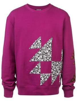 Calvin Klein 205 W39 Nyc          Geometric Print Long Sleeve Shirt Purple by Calvin Klein 205 W39 Nyc