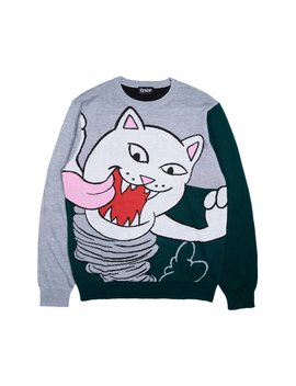 Nermanian Devil Sweater (Heather / Green) by Ripndip