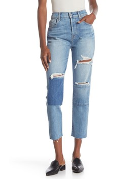 High Waist Distressed Josefina by 7 For All Mankind