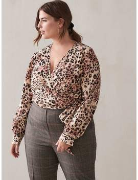 Cropped Wrap Blouse   Addition Elle Cropped Wrap Blouse   Addition Elle by Addition Elle